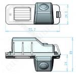 Cúvacia kamera pre VW Polo, Golf 4, Passat, B7, 4D, Scirocco, Beetle, EOS, Amarok,  2006, 2007, 2008, 2009, 2010, 2011, 2012, 2013, 2014, 2015, 2016, 2017, 2018, 2019