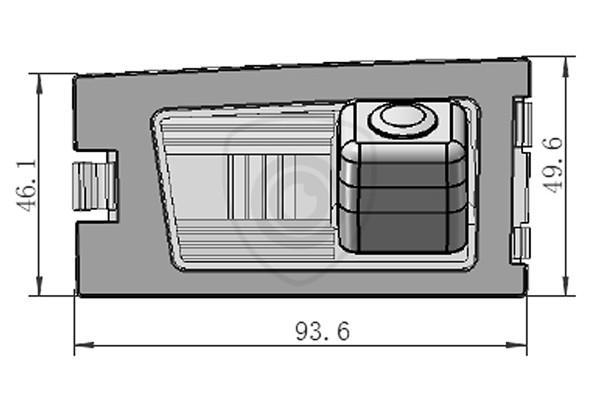 Cúvacia kamera Jeep Grand Cherokee, Compass, 2008, 2009, 2010, 2011, 2012, 2013, 2014, 2015