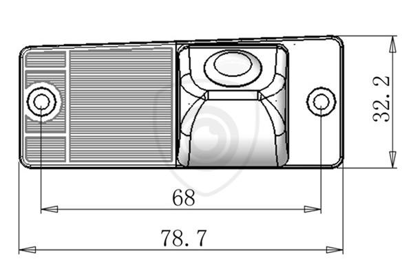Cúvacia kamera Kia Cerato, Sorento, Sportage, 2004, 2005, 2006, 2007, 2008, 2009 zabudovaná v osvetlení ŠPZ