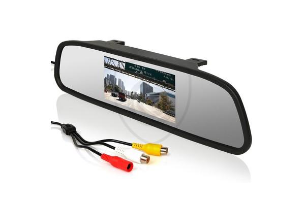 4,3″ monitor do auta v spätnom zrkadle pre cúvacie kamery