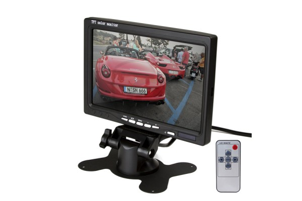 Stojanový monitor do auta 7″ pre napojenie cúvacej kamery a videoprehrávača