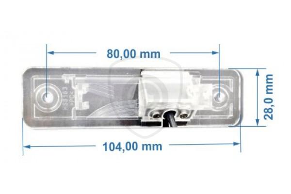 Parkovacia kamera pre Opel Zafira A, Combo C, Vectra B,  Corsa, 1999, 2000, 2001, 2002, 2003, 2004, 2005, 2006, 2007, 2008, 2009, 2010, 2011