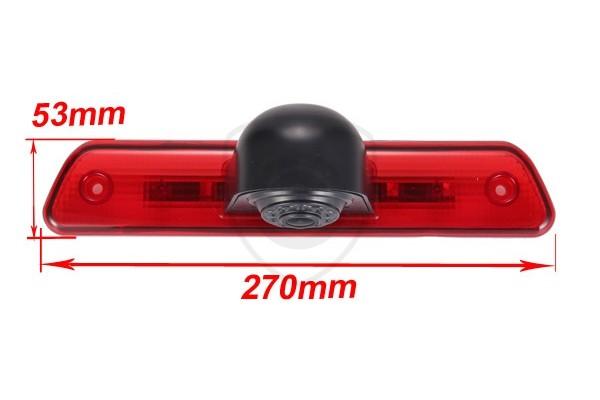 Cúvacia kamera Citroën Jumpy 2 v brzdovom svetle
