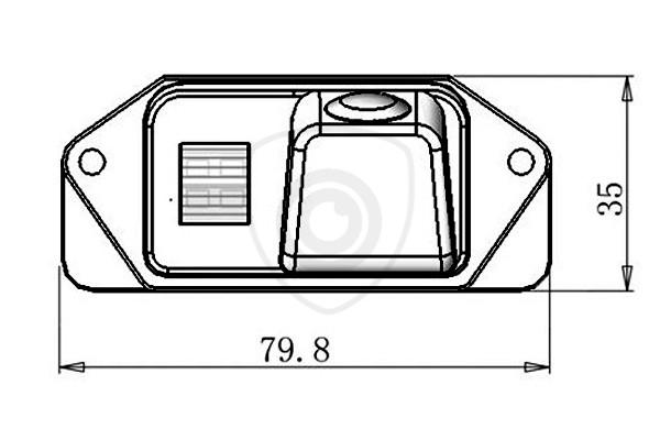 Cúvacia kamera Mitsubishi Lancer a Outlander 2006, 2007, 2008, 2009, 2010, 2011, 2012, 2013, 2014, 2015, 2016, 2017, 2018, 2019