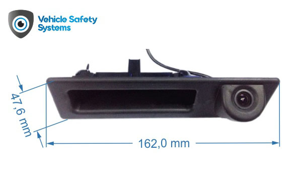 rozmery cuvacej kamery BMW v rukovati kufra