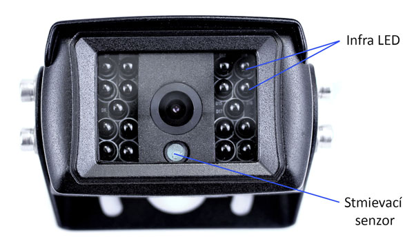 Cúvacia kamera na kamión s 18 IR LED