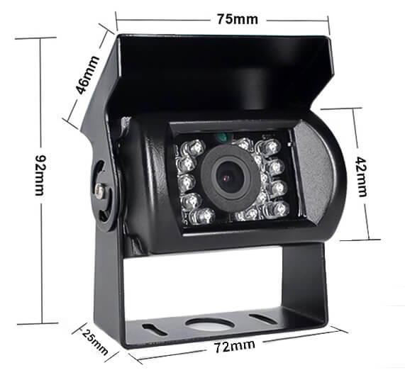 Cúvacia kamera pre nákladné auto vestys classic cc-012 rozmery čierna farba kamery