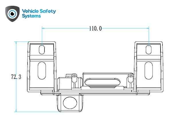 rozmery cuvacej kamery Fiat v rukovati kufra