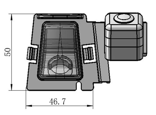 cúvacia kamera pre Jeep Wrangler