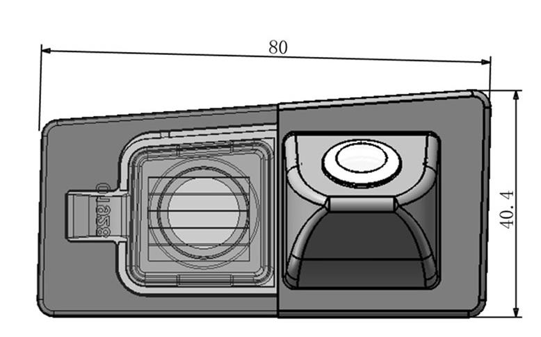cúvacia kamera pre KIA Ceed SW