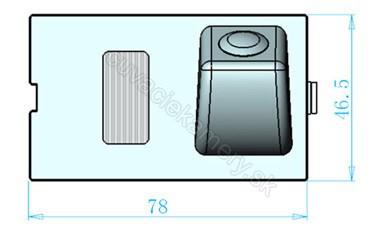 cúvacia kamera pre Land Rover Freelander, Discovery, Range Rover Sport