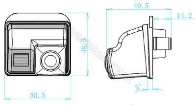 cúvacia kamera Mazda 3, 6, CX-7, CX-9