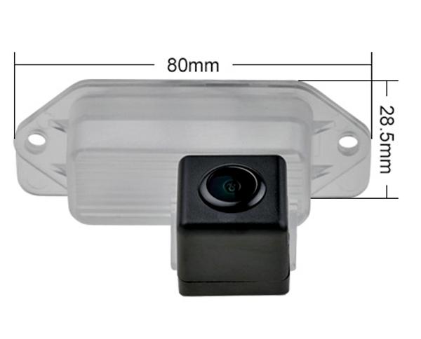 cúvacia kamera pre Mitsubishi Lancer a Outlander rozmery