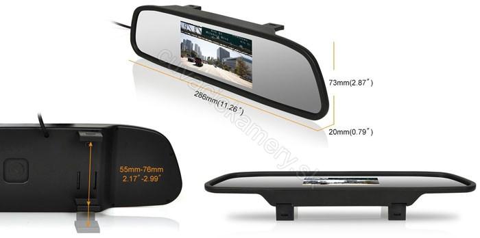 monitor displej v spätnom zrkadle do auta pre cúvaciu kameru