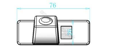 cúvacia kamera pre Nissan Pathfinder, Quashqai, X-Trail, Juke, Primera, Navara, Note