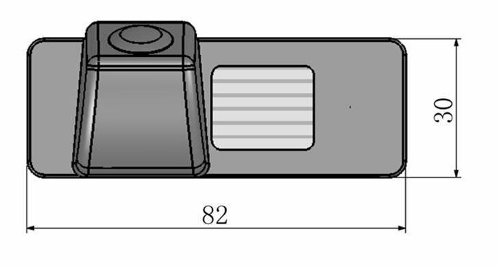 cúvacia kamera pre Opel Astra J, Mokka X