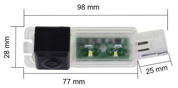 cúvacia kamera pre Porsche Cayenne