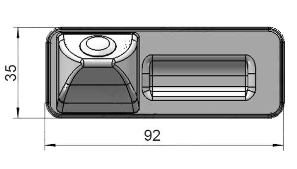 rozmery cuvacej kamery Škoda v rukovati kufra Octavia 2