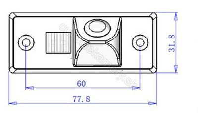 cúvacia kamera pre Skoda Fabia a Yeti