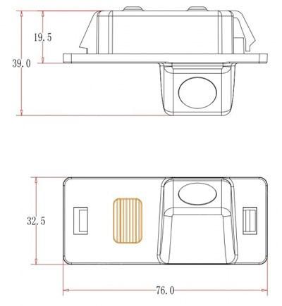 cúvacia kamera pre Škoda Fabia a Yeti