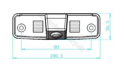 cúvacia kamera pre Subaru Forester, Impreza, Legacy, Outback