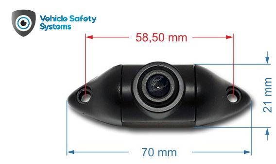 univerzálna kovová cúvacia kamera UNI-VAN MINI do auta rozmery
