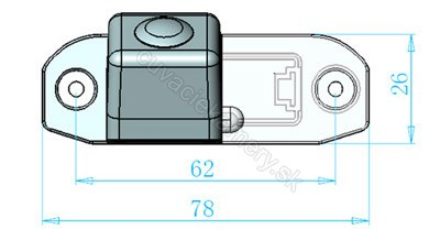 cúvacia kamera pre Volvo S80, S40, XC60, XC90, C70, S60, V50, V60, V70, XC70