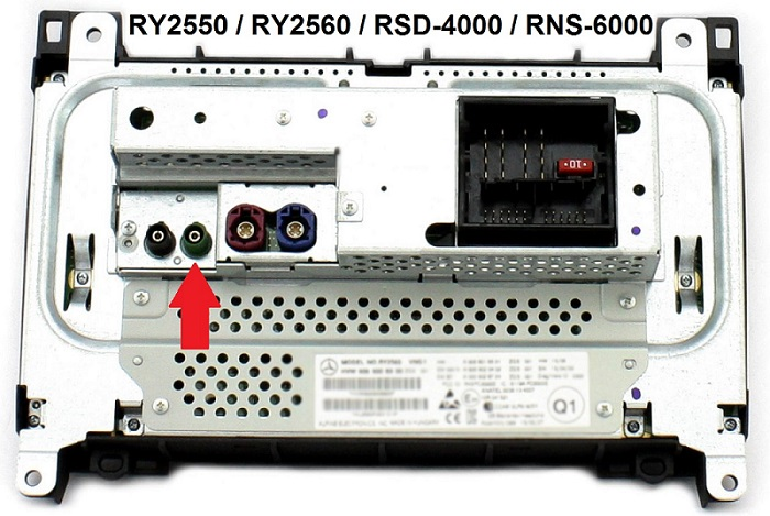 zapojenie Farka RCA na obrazovku v mercedes benz a vw crafter
