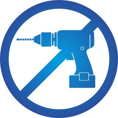 mnodrá ikona znázorňujúca že kamera sa jednoducho nainštaluje bez potreby vŕtania