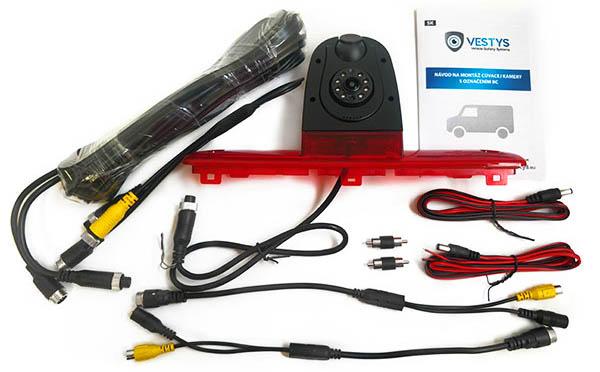 cuvacia kamera Citroen Jumper dual - obsah balenia