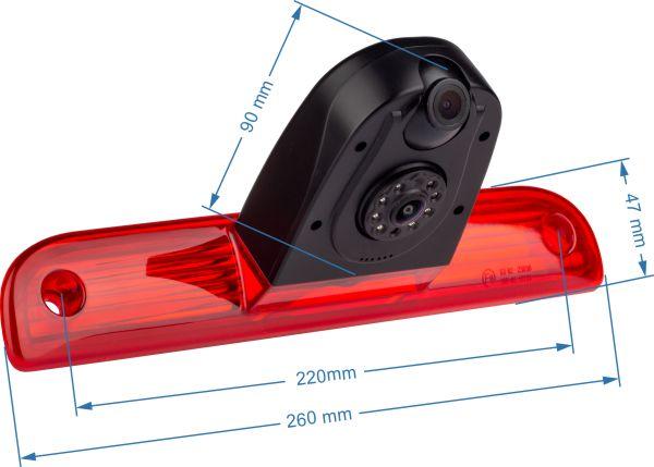 cúvacia kamera Citroën Jumper rozmer