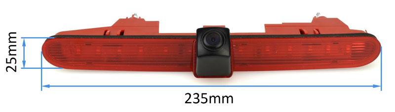 Cúvacia kamera pre Citroën Berlingo v tretom brzdovom svetle rozmery