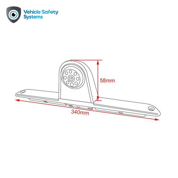 cúvacia kamera Mercedes Sprinter rozmer